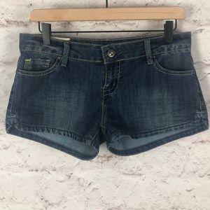 NWOT 1ST Junior Jean Pocket embroider Shorts Sz 7